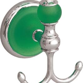 """Juego de accesorios """"Goya"""" cromo verde."""