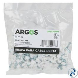 Grapa para Cable (recta) 100 pzas. 5mm