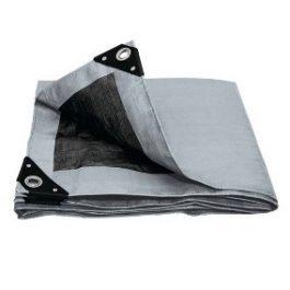 Lonas Plástica uso Pesado 10 x 14 gris 180 gramos.