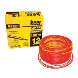 Cable Keer THW Calibre 12 color rojo 100mts